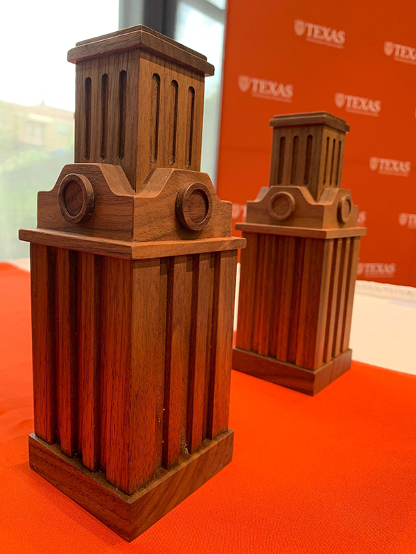 Wood UT Tower Award from University Excellence in Communications Award Ceremony